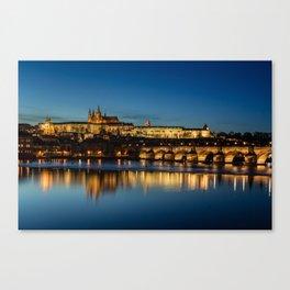 Charles Bridge and Prague Castle, Czech Republic Canvas Print