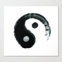 ying yang Canvas Prints featuring Ying & Yang by Simple Touch Apparel