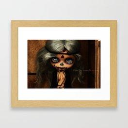 My Delicious Bliss Custom Blythe Frida Sugar Skull Framed Art Print