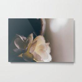 Fabric Flower Metal Print