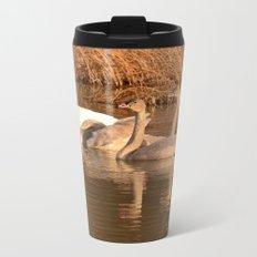 Trumpeter Swan Family Metal Travel Mug