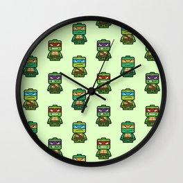 Chibi Ninja Turtles Wall Clock