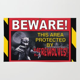 Beware! This Area Is Protected by Werewolves! Rug