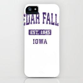 cedar falls iowa ia vintage athletic sports design pullover tee iPhone Case