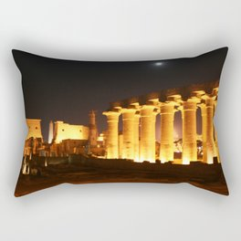 The night and the moon at Temple of Luxor, no. 29 Rectangular Pillow