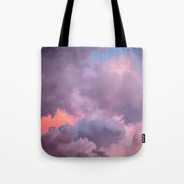 Pink and Lavender Clouds Tote Bag