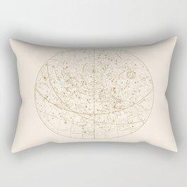 Visible Heavens - Gold Rectangular Pillow