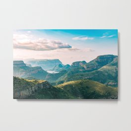 Scenic Mountain Landscape Photo Metal Print