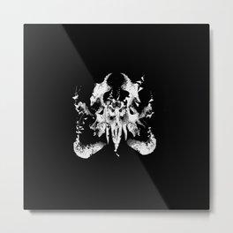Octopus Skull Metal Print