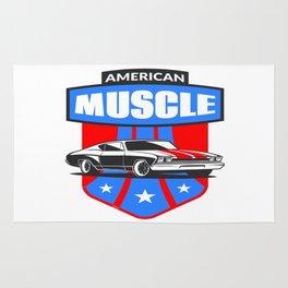 American Muscle Car Rug