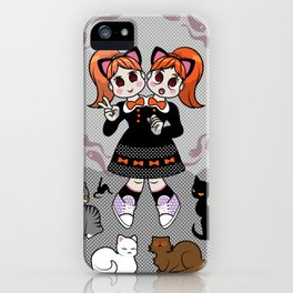 Kitty Cat Twins iPhone Case