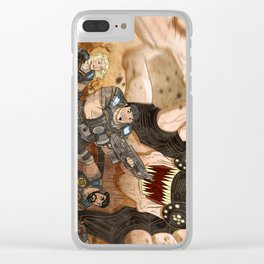 RUN GEARS RUN Clear iPhone Case