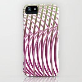 Op-art - intertwining wavy lines iPhone Case