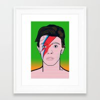david bowie Framed Art Prints featuring David Bowie by Alli Vanes