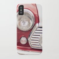 mini cooper iPhone & iPod Cases featuring Red Mini Cooper by Oy Photography