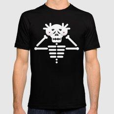 Skeleton / Pale Man Mens Fitted Tee MEDIUM Black