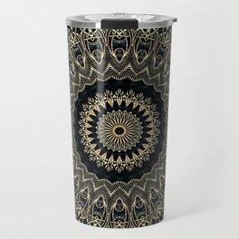 Gold Filigree Mandala Travel Mug