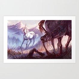 The Rabid Unicorn Art Print