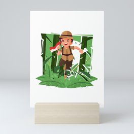 Running Around Exploring The Jungle Mini Art Print