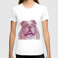 bulldog T-shirts featuring Bulldog by Ahmad Mujib