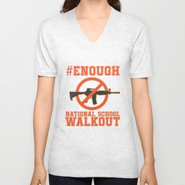Gun Control, #Enough - Gun Reform Anti Gun Shirt Unisex V-Neck
