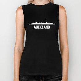 Auckland New Zealand Skyline Cityscape Biker Tank