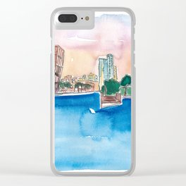 Fort Lauderdale Skyline Sunset In Florida Clear iPhone Case