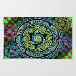 Variated Spheres #1 Psychedelic Celtic Design Rug