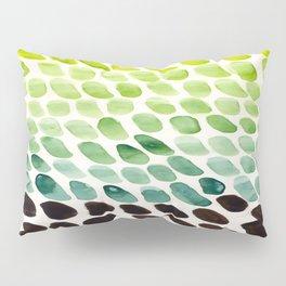 Green Teal Watercolor Abstract Organic Pattern MInimalist Abstract Colorful Pattern Natural Geometri Pillow Sham