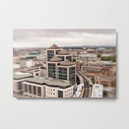 Dublin ity center aerial view Metal Print