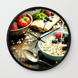healthy breakfast Wall Clock