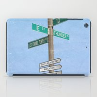 springsteen iPad Cases featuring Springstreets by Nicko-Suave Art