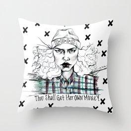 #STUKGIRL H.B.I.C Throw Pillow