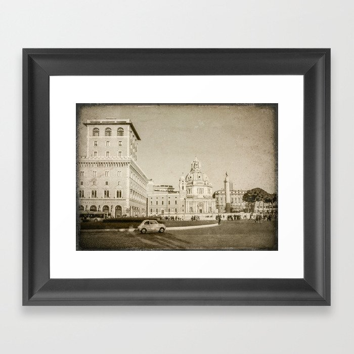 Eternal City (Plaza Venezia) Framed Art Print