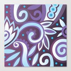 Summer leaves, purple Canvas Print
