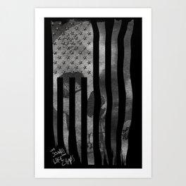 Skull Flag Art Print