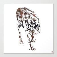 hunter Canvas Prints featuring Hunter by Stevyn Llewellyn