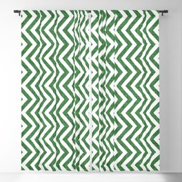 Canadian Wildlife Chevron Emerald Blackout Curtain