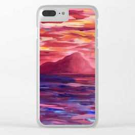 Ischia Island Clear iPhone Case