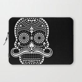 Black Skull  White Suits Laptop Sleeve