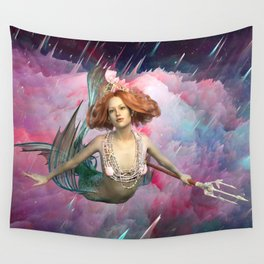Intergalactic Space Sirens the Universal Flying Mermaids of Our Dreams Wall Tapestry
