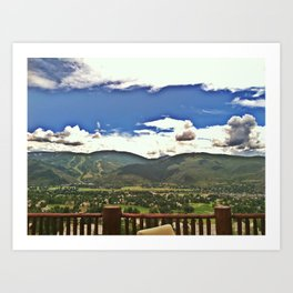 A Colorado View (Arrowhead Mtn) 2011 Art Print
