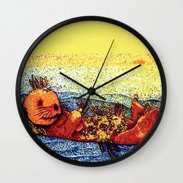 Terrarium Otter Wall Clock