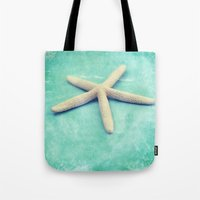 starfish Tote Bags featuring starfish by Sylvia Cook Photography