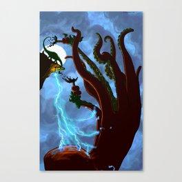 Part 6: Brontosorus Vs. The Giant Land Octopus Canvas Print