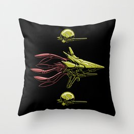 The Bioship Shinden Throw Pillow