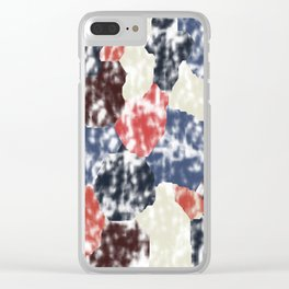 Abstract 189 Clear iPhone Case