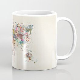 world map watercolor Coffee Mug