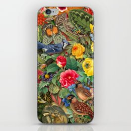 Birds Insects Plants iPhone Skin