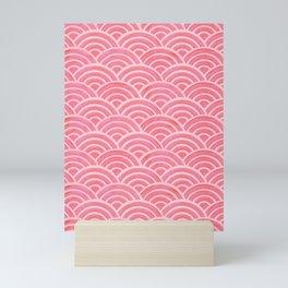 Japanese Seigaiha Wave – Powder Pink Palette Mini Art Print